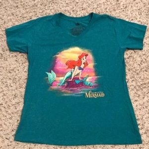 NWOT Disney Little Mermaid v-neck t-shirt XL